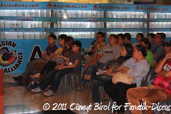 Conférence sur le discus lors du Petfish 2011