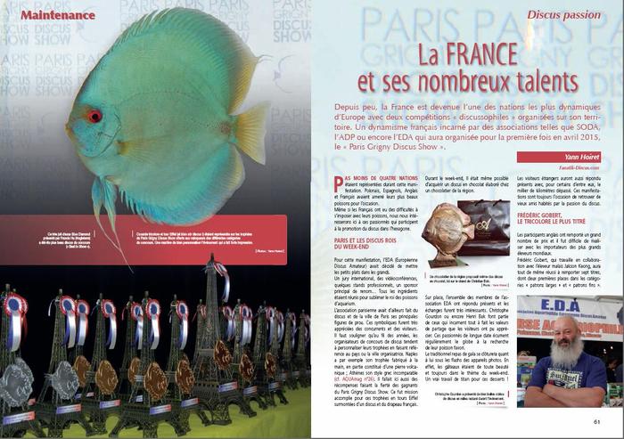 Aquamag Paris Grigny Discus Show 2015