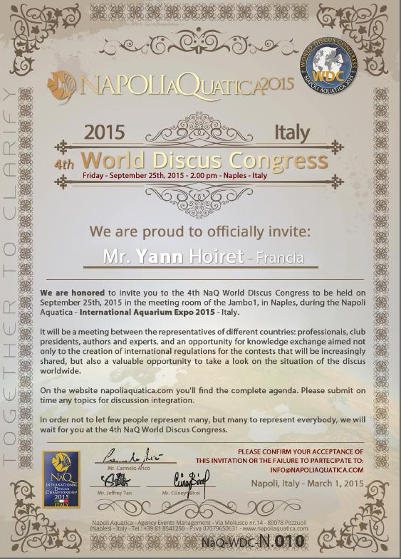 Invitation WORLD DISCUS CONGRESS 2015