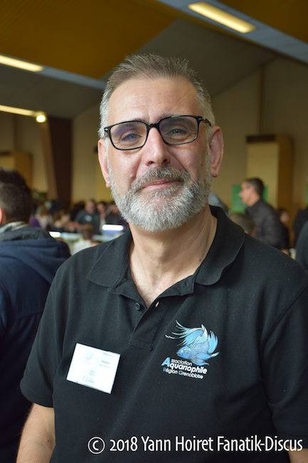 Frédéric Salmeron président association aquariophile Grenoble Eybens 2018