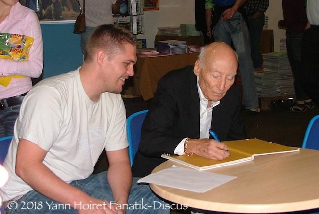 Rencontre avec Jack Wattley Pape discus championnat monde Duisburg 2006