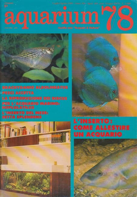 Italian Aquarium Magazine 1989