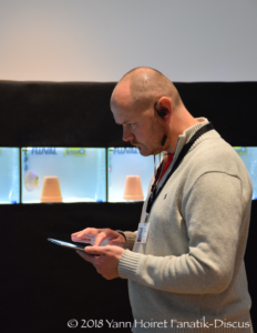 Tony Vaughan juge durant le Nordic Discus Show 2018
