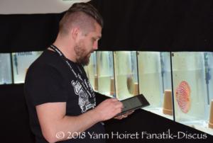 Yann Hoiret juge durant le Nordic Discus Show 2018