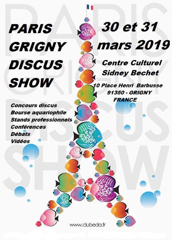 Calendrier discus show Affiche Paris-Grigny DISCUS SHOW 2019