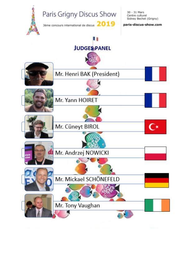 Jury Paris-Grigny discus show 2019